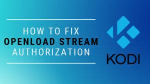 How to Fix Openload Stream Authorization